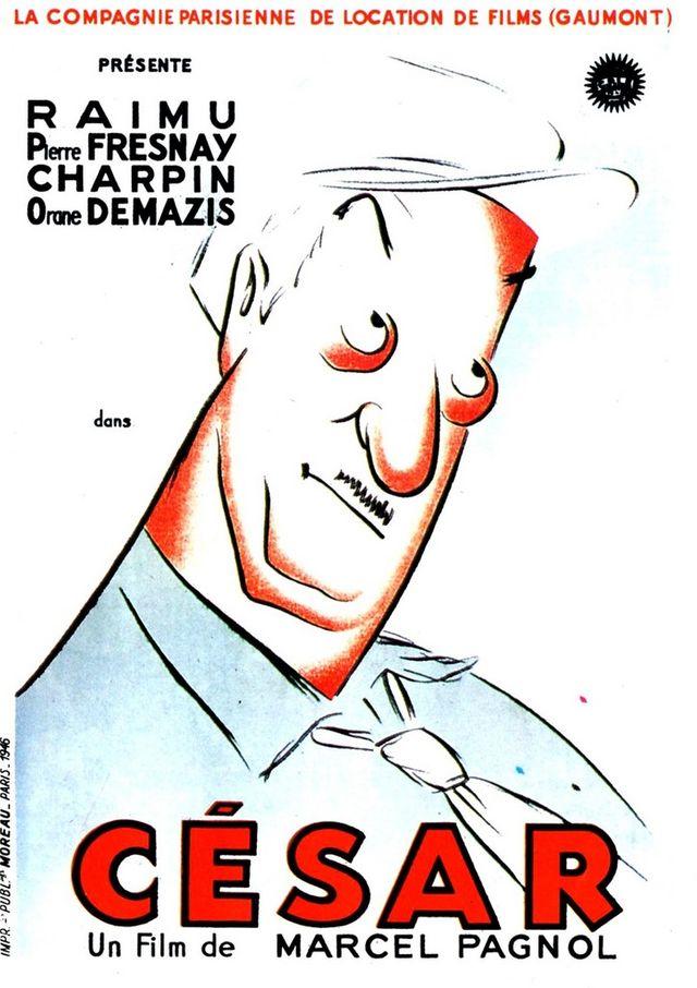 Affiche du film César, Marcel Pagnol