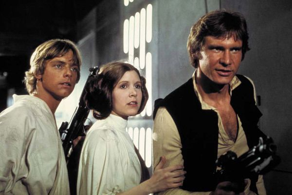 Mark Hamill, Carrie Fisher et Harrison Ford