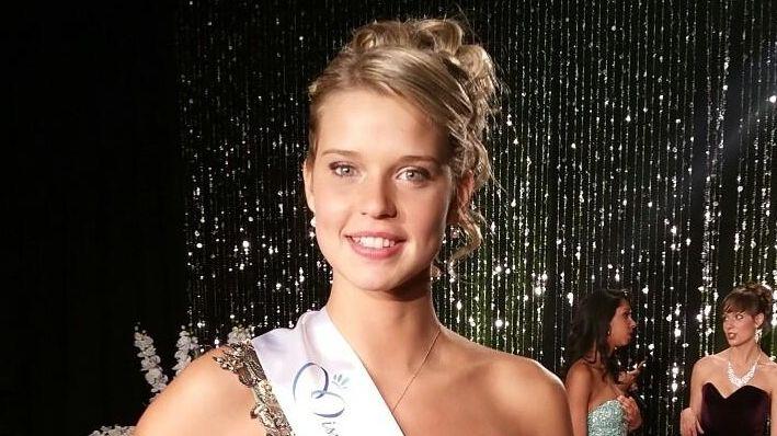 Angélina Laurent lors de son élection à Miss Pays de Loire.