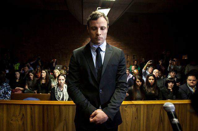 Oscar Pistorius devant la cour de Pretoria en août 2013