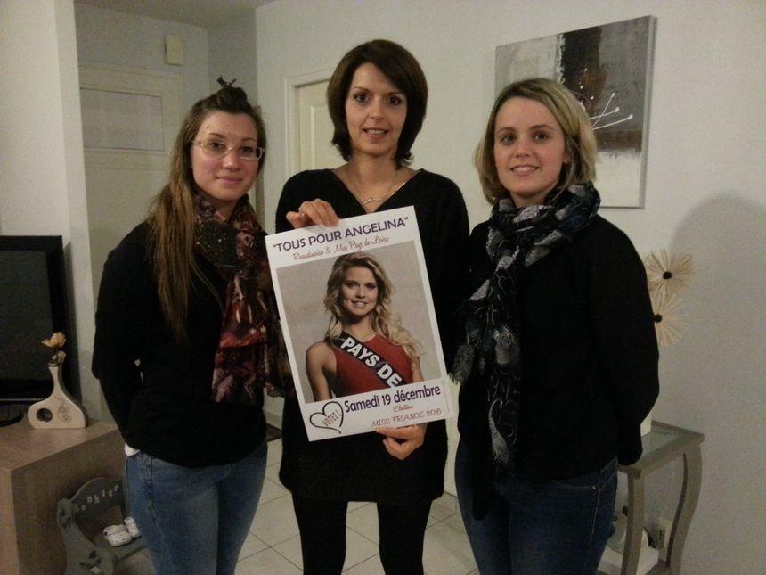 Trois membres actifs du comité de soutien d'Angélina Laurent.