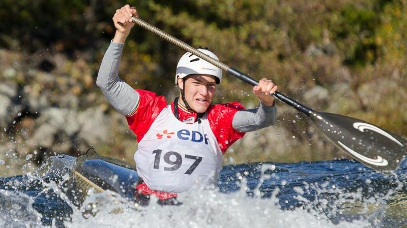 Etienne Klatt, 3° aux championnants de France junior de descente en canoé