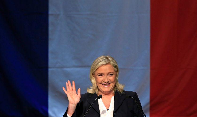 Marine Le Pen, dimanche soir avant son allocution