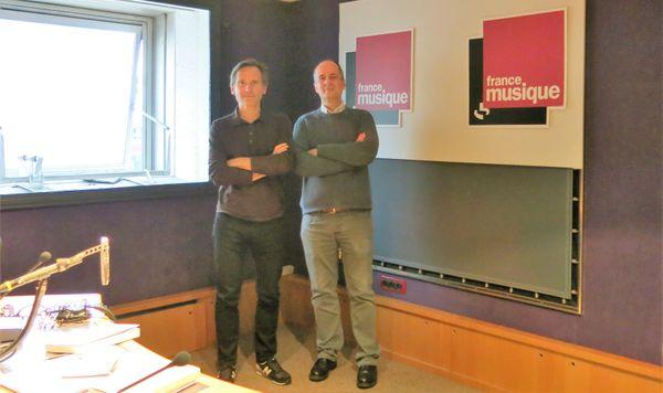 France Musique par un beau dimanche, studio 142... Olivier Baumont & Philippe Venturini (de g. à d.)  ©Annick Haumier-Radio France