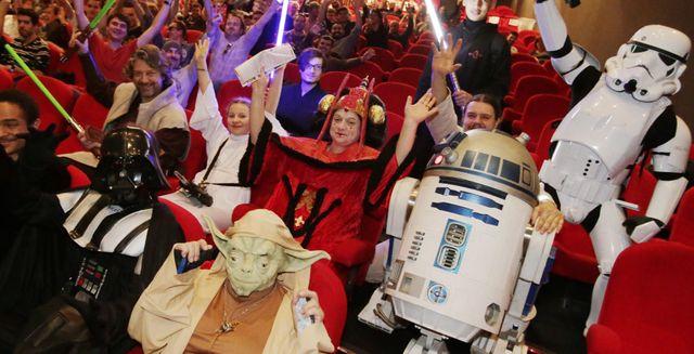 Les premiers spectateurs de Star Wars VII  à Nice