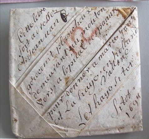 Une des 2 600 lettres, datées du XVIIe siècle et retrouvées dans une malle de postier au Musée des communications de La Haye