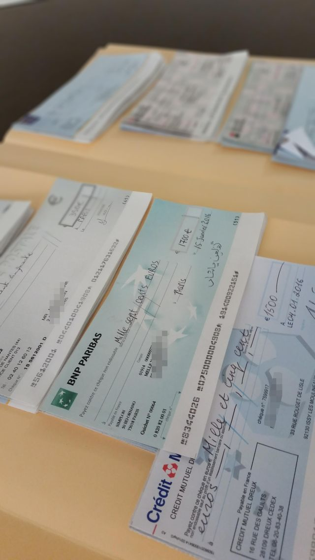 Des chèques signés par des faux étudiants chinois