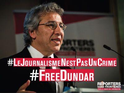Can Dündar, journaliste turc emprisonné depuis le 26 novembre dernier
