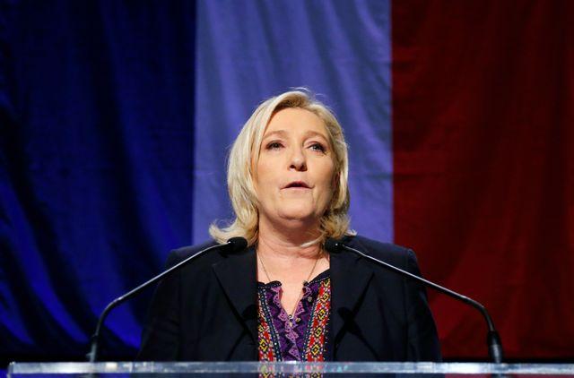 Marine le Pen dimanche soir à Hénin Beaumont