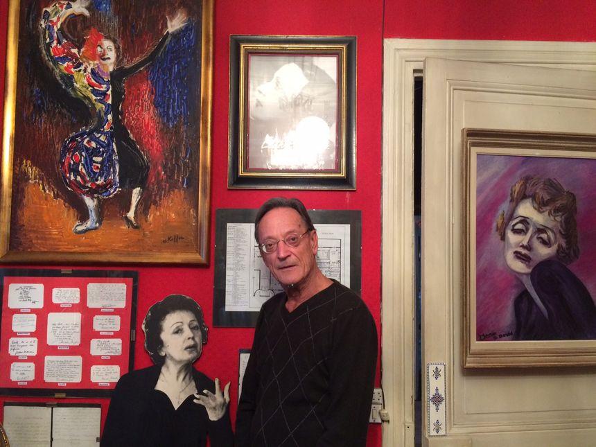 Bernard Marchois est le conservateur du musée privé d'Edith Piaf à Paris.