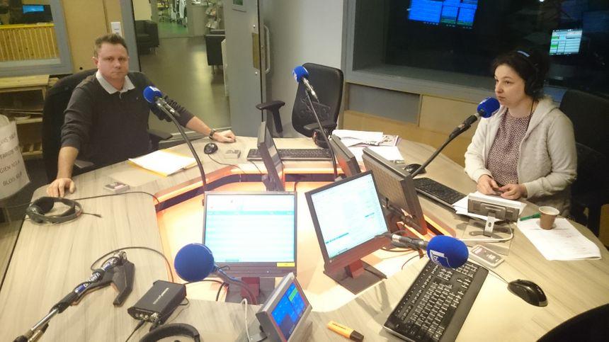Thierry Fouquiau dans les studios de France Bleu Orléans