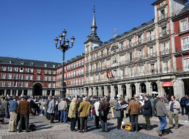 La place Mayor de Madrid, en 2004, lors de précédentes élections législatives