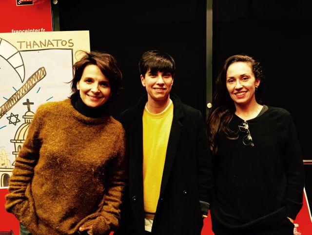 Juliette Binoche, Louise Roam et Marion Motin