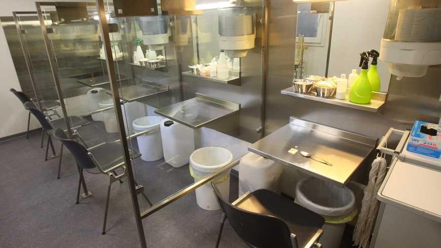 Salle d'injection à Bâle en Suisse