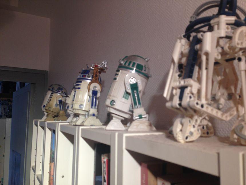 Les R2D2 collectionnés par Christian