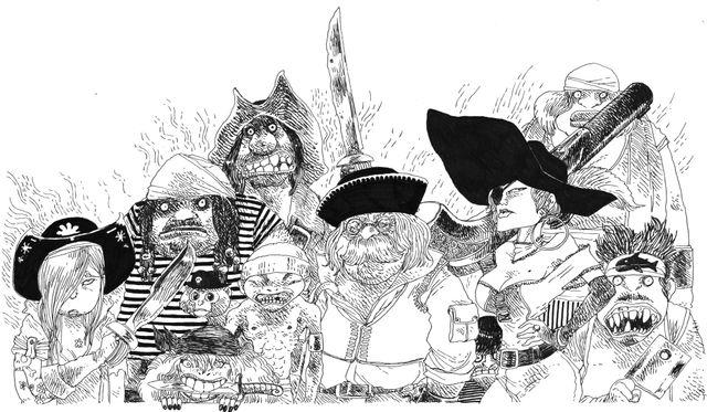 Pirates dans Par bonheur le lait