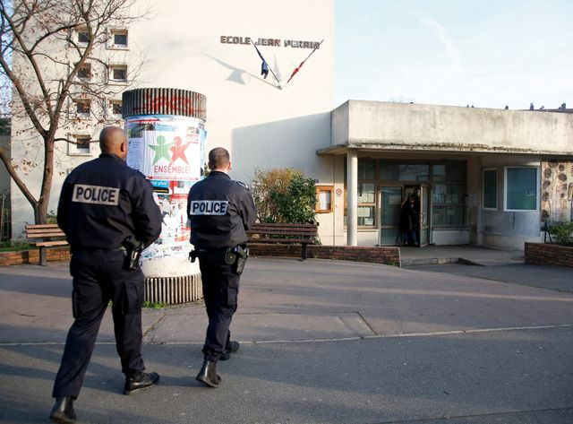 L'école Jean-Perrin d'Aubervilliers, où a eu lieu l'agression