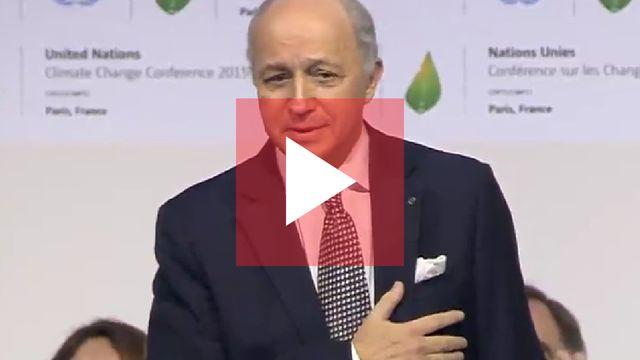 Le discours de Laurent Fabius à la COP21