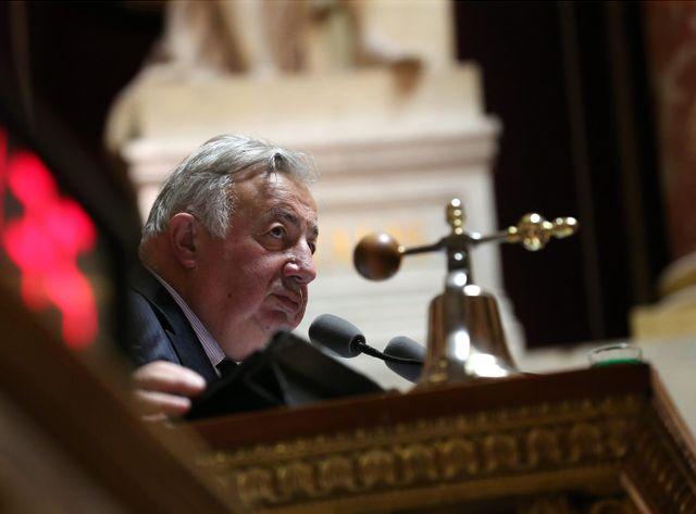 Gérard Larcher, le président Les Républicains du Sénat, à l'initiative du projet