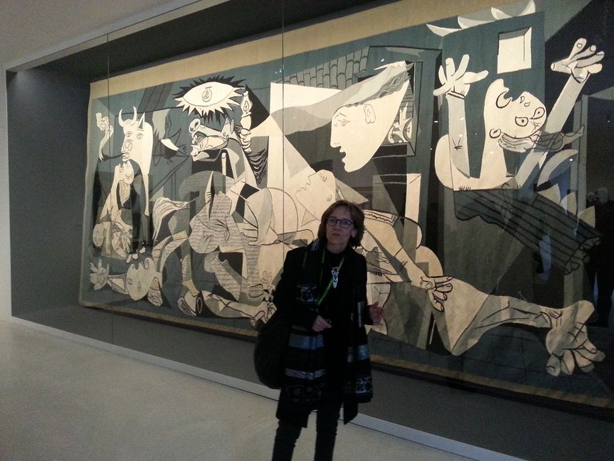 Parmi les oeuvres à découvrir: la tapisserie de Guernica d'après Picasso