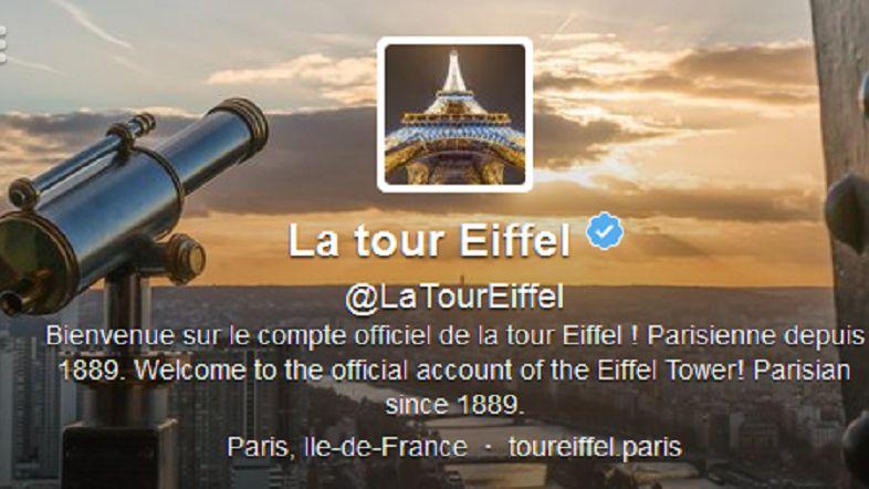 La Tour Eiffel vient d'ouvrir son compte Twitter.