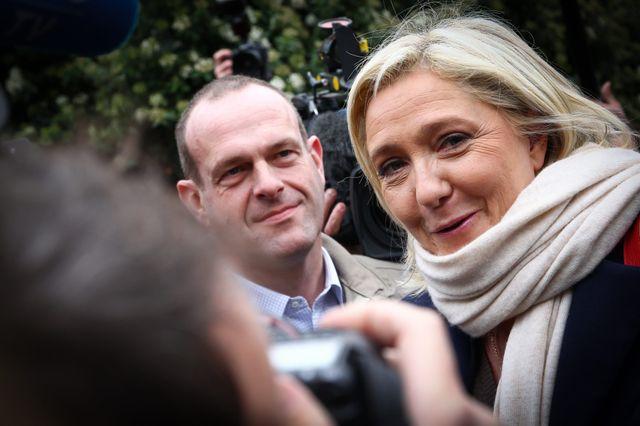 Marine Le Pen après son vote à Hénin-Beaumont