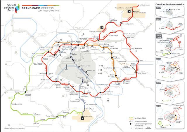 Plan des nouvelles lignes de métro