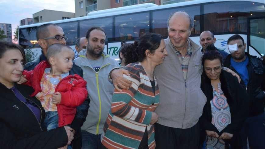 La famille de Milad Aleid à son arrivée au Mans © Radio France