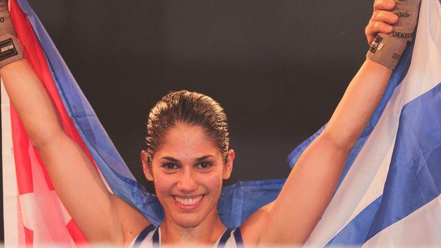 Cynthia Gonzales, championne du monde de boxe française