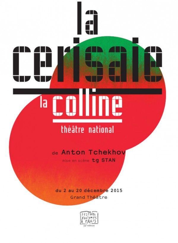 """Affiche """"La Cerisaie"""" de Tchekov avec Tg Stan au Théâtre de La Colline"""