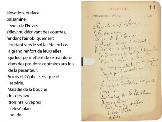 Agenda de Proust