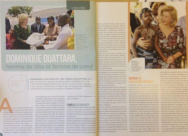 """Un article sur Dominique Ouattara dans la revue de sa fondation """"Children of Africa"""""""