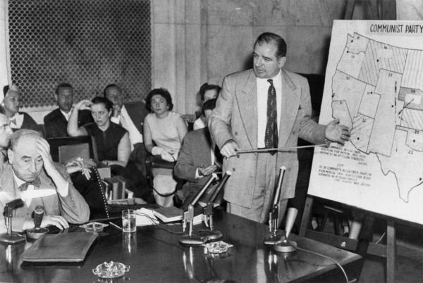 Joseph N. Welch (left) and Senator McCarthy, June 9, 1954