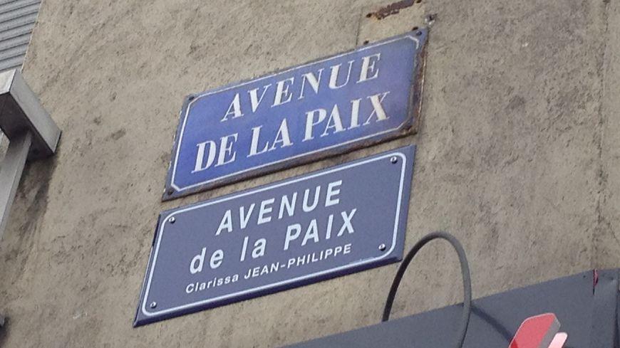 """L'avenue de la paix"" rebaptisée ""avenue de la Paix - Clarissa Jean-Philippe"""