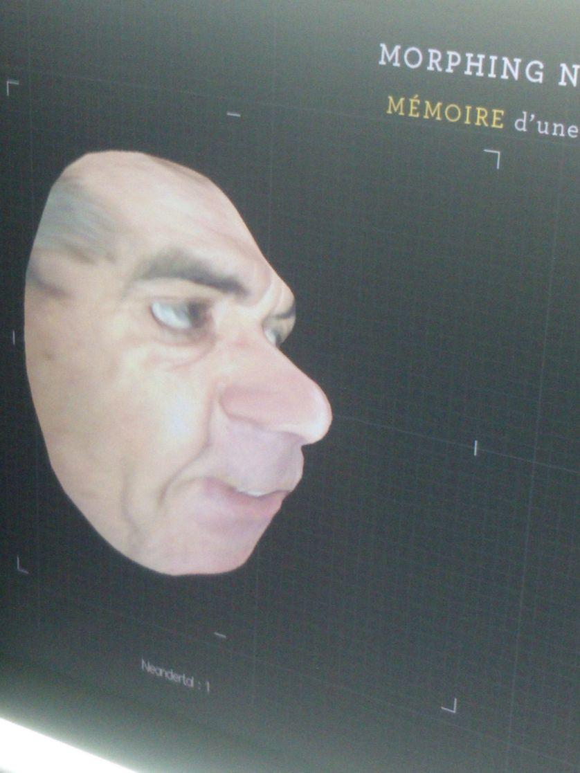 Etienne Klein reconfiguré en Homme de Neanderthal