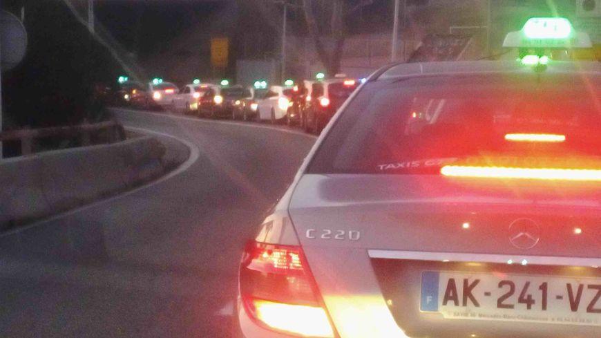 Manifestation de taxis à Marseille