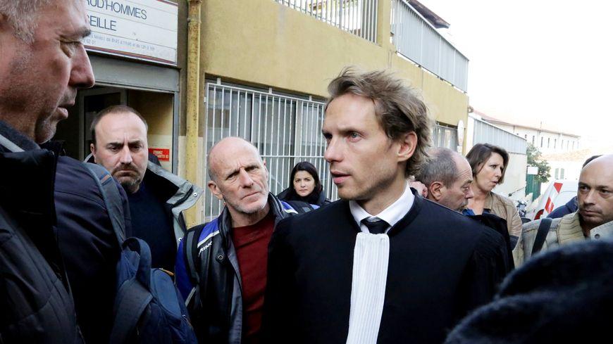 Me Doudet, avocat de la CGT, aux prud'hommes de Marseille le 16 décembre 2015
