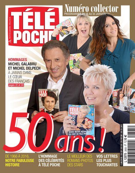 couverture des 50 ans de Télé Poche