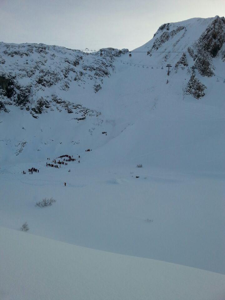 Le versan nord où la piste de Bellcombe est située sur le domaine des Deux-Alpes