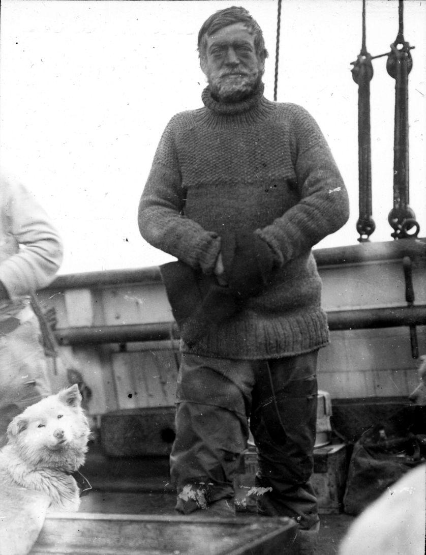 Sir Ernest Shackleton lors de l'expédition Nimrod.