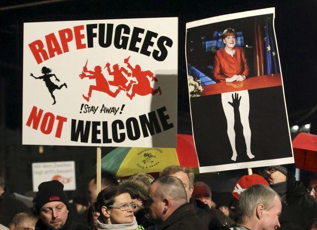 Manifestation anti-réfugiés à l'appel de Pegida, à Leipzig (Allemagne), le 11 janvier 2016