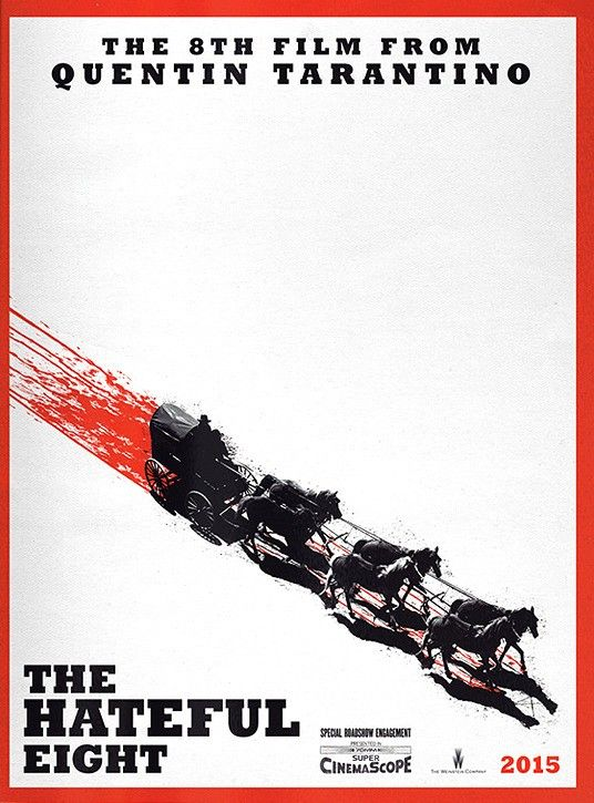 "Affiche de ""The Hateful Eight"" de Quentin Tarantino (2016)"