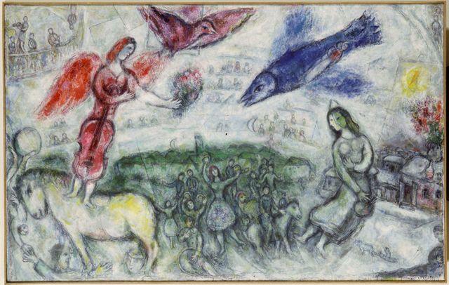Les gens du voyage - Marc Chagall, 1968