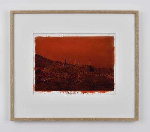 Palmyre, 1992 Photographie réhaussée à la peinture et signée et datée au dos
