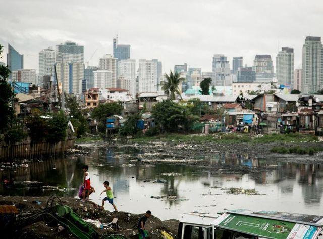 Bidonville de Tondo (Philippines)