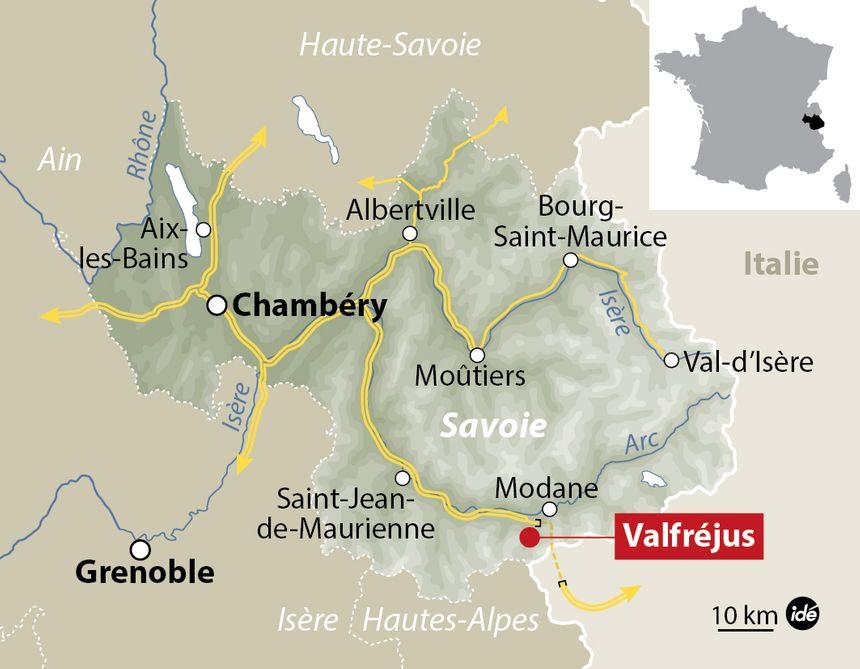 La station de Valfréjus se situe dans la vallée de la Maurienne, en Savoie.