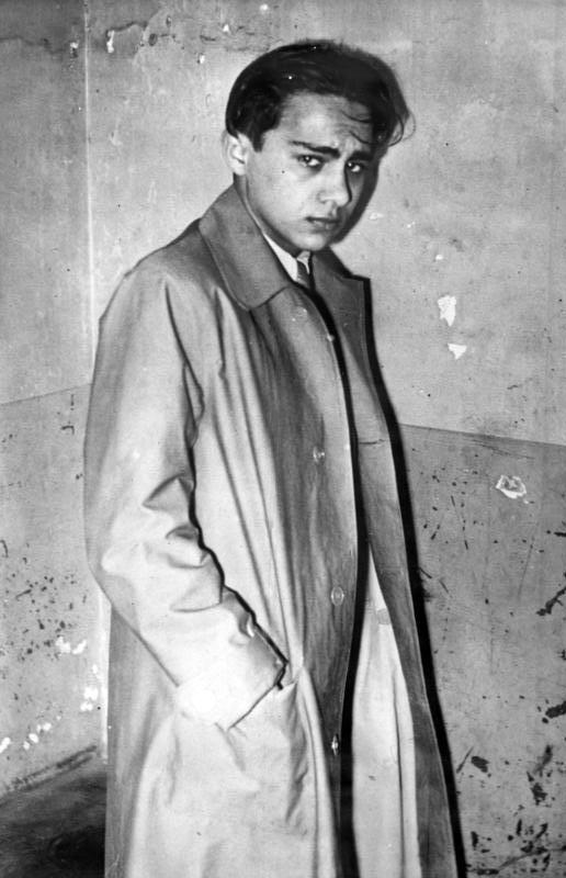 Herschel Grynszpan après son arrestation à Paris en 8 novembre 1938