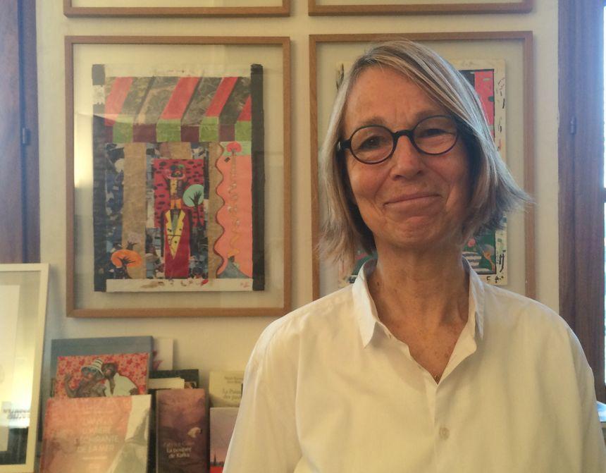 L'éditrice Françoise Nyssen, devant les toiles de son fils