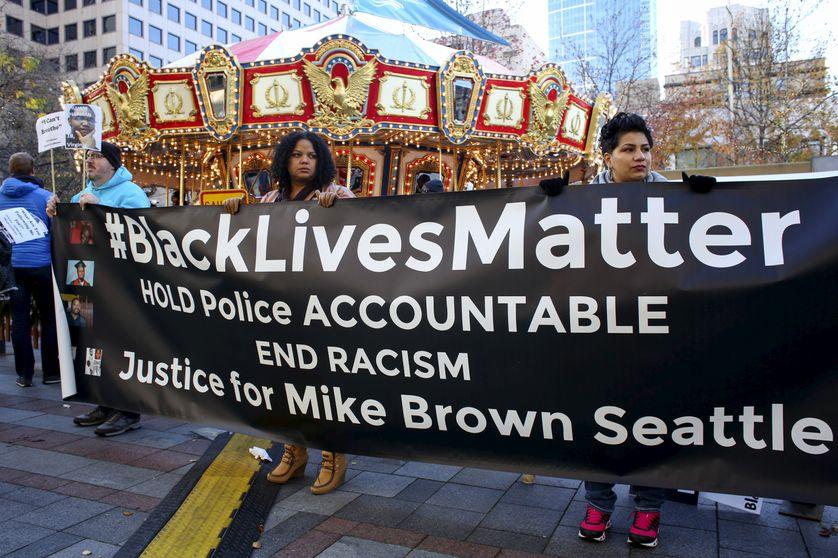 """Une manifestationb """"Black Lives Matter"""" à Westlake"""