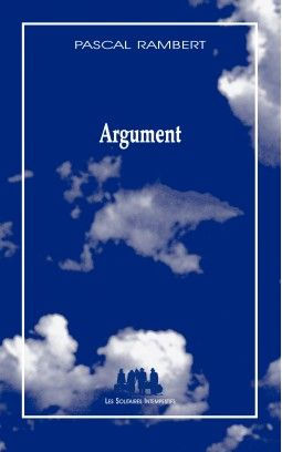 """Pascal Rambert - livre """"Argument"""""""